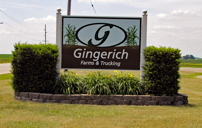 Gingerich Farms sign