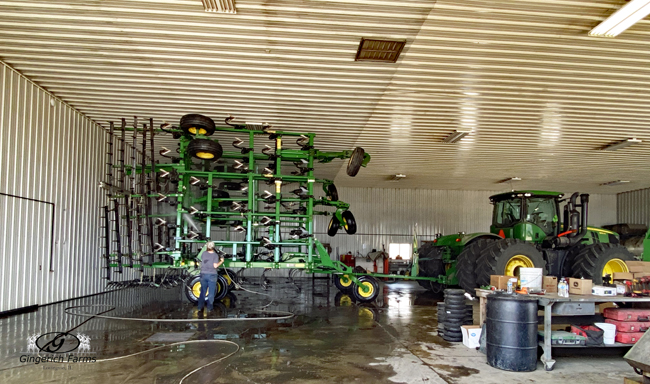 Cleaning Cultivator at Gingerich Farms