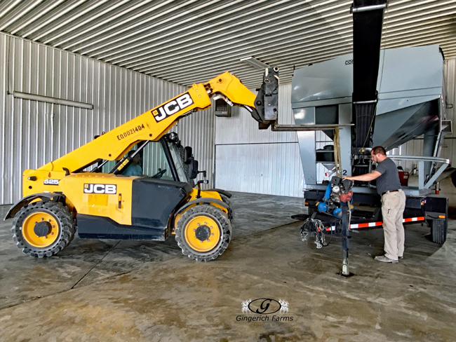 Removing air compressor at Gingerich Farms