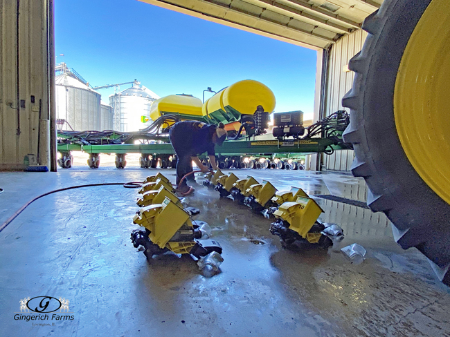 Planter cleaning at Gingerich Farms