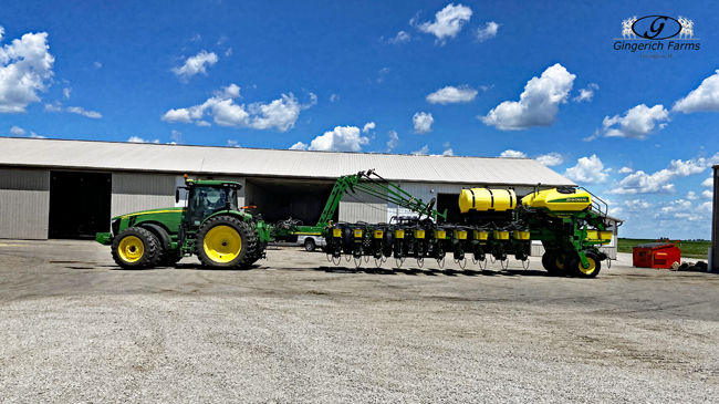 Clean planter at Gingerich Farms