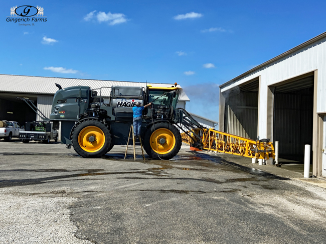 Sprayer cleaned - Gingerich Farms
