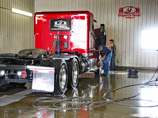 cleaning Inc. trucks at Gingerich Farms