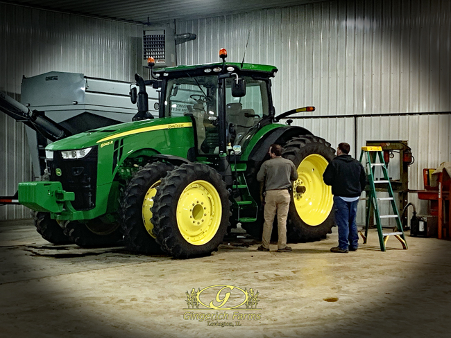 Tractor cleaned at Gingerich Farms