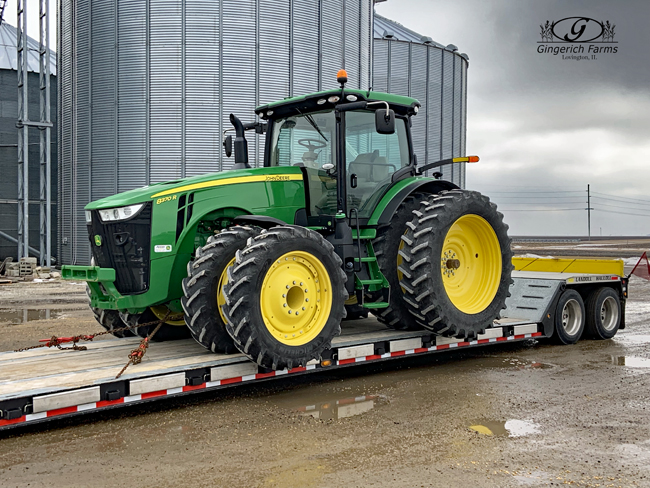 New tractor arrived at Gingerich Farms