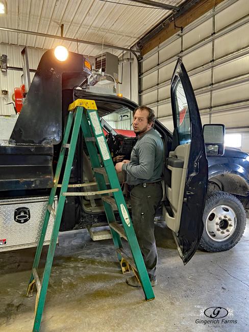 Truck work - Gingerich Farms
