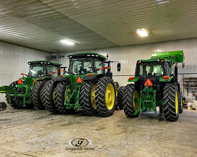 Tractor line up - Gingerich Farms