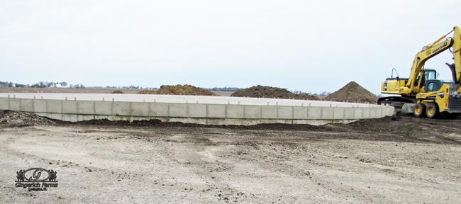 Bin Foundation at Gingerich Farms
