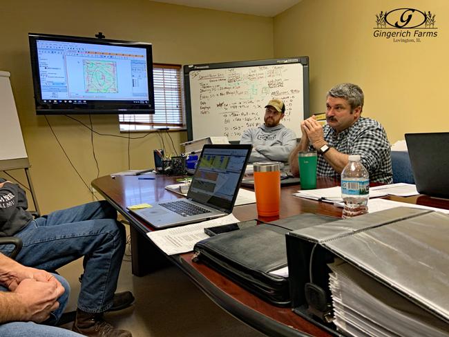 Crop Tech meeting at Gingerich Farms