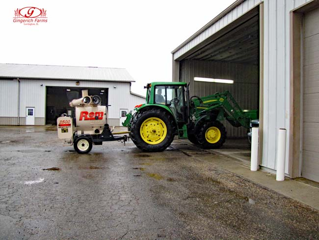 Cleaned tractor at Gingerich Farms