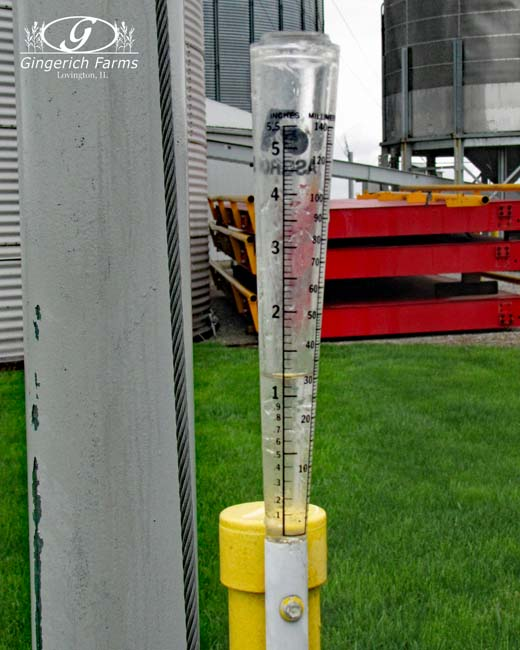 Rain Gauge at Gingerich Farms