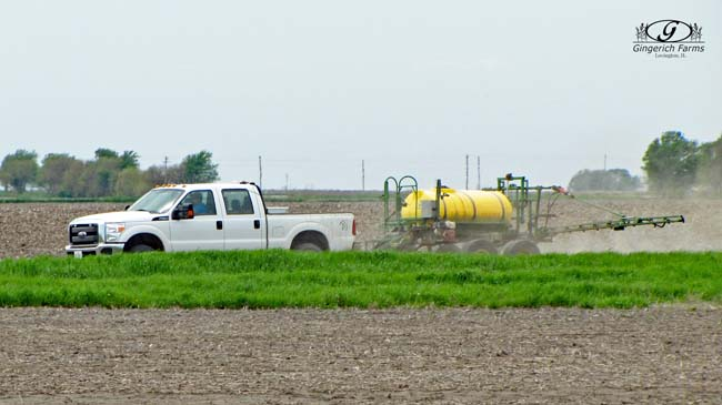 Ditch Spraying at Gingerich Farms
