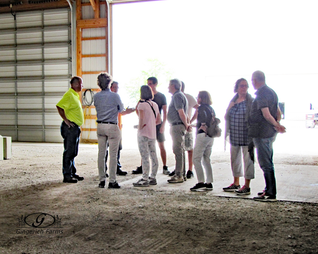 Group from Italy visited at Gingerich Farms