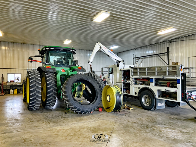 Rotating tractor tires - Gingerich Farms