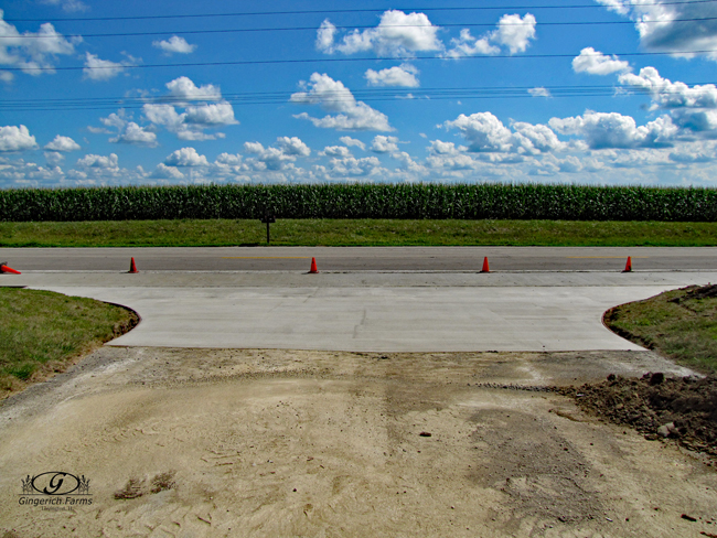 Driveway at Gingerich Farms