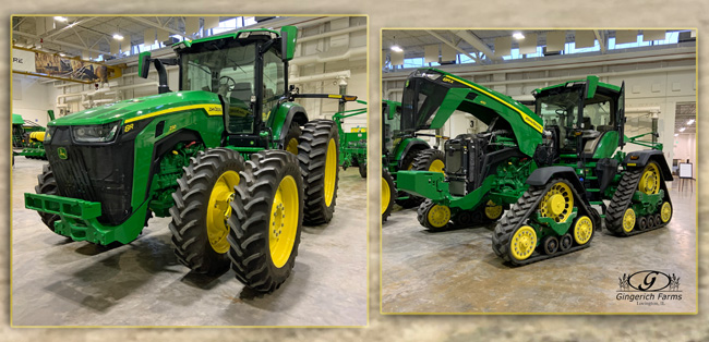 8R JD tractors at Gingerich Farms