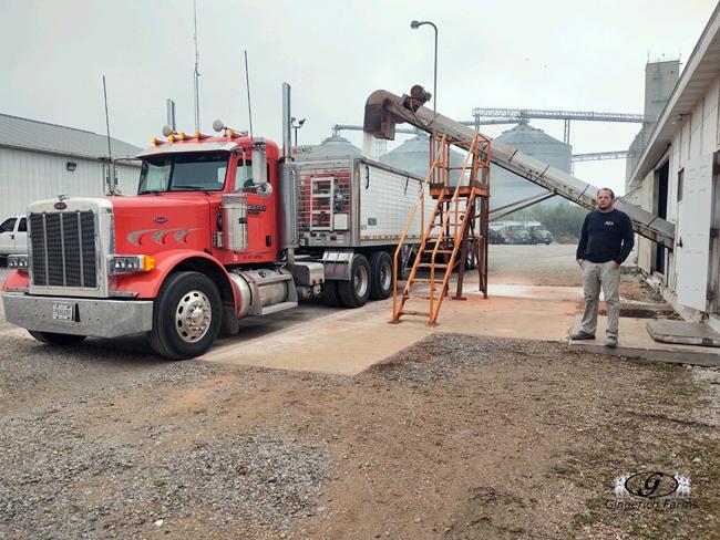 Loading fertilizer - Gingerich Farms