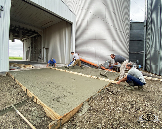 Leveling concrete - Gingerich Farms