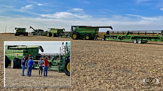 Lined for next field - Gingerich Farms