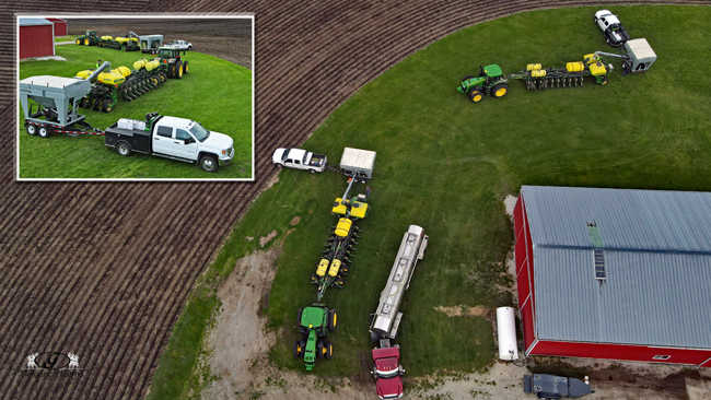Loading planters - Gingerich Farms