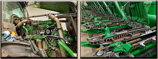 Tractor & corn head repair work at Gingerich Farms