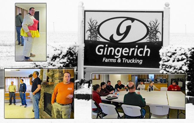 Farm meeting at Gingerich Farms