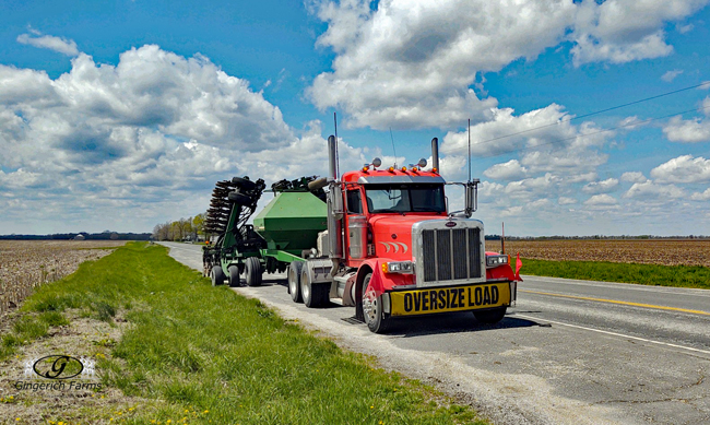 Oversized load - Gingerich Farms