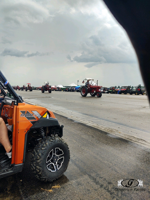 Parade of old tractors - Gingerich Farms