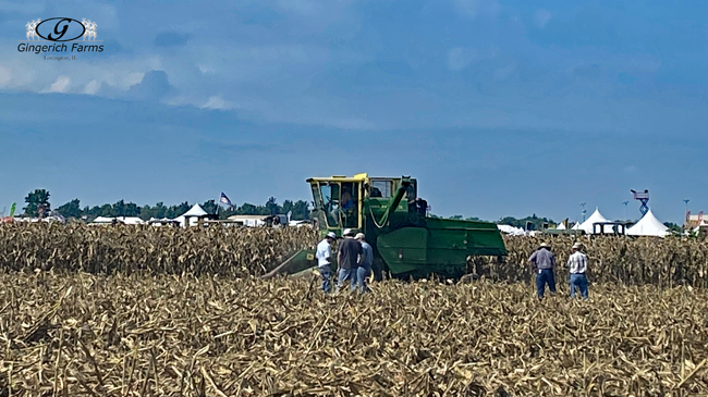 1st combine with cab - Gingerich Farms