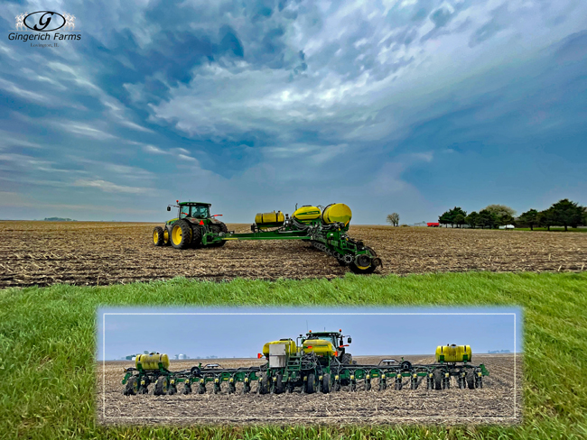 Planting corn - Gingerich Farms