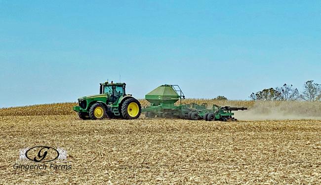 Wheat drill - Gingerich Farms