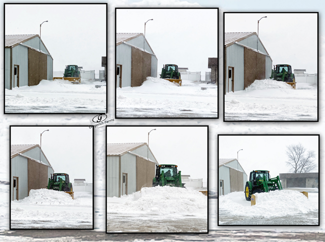 Plowing snow - Gingerich Farms