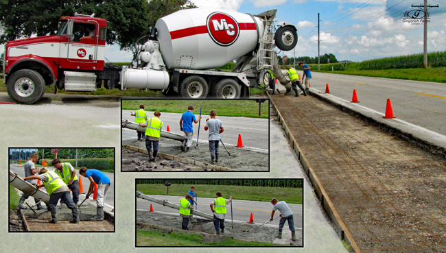 Concreting at Gingerich Farms