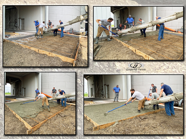 Pouring concrete entry GC - Gingerich Farms