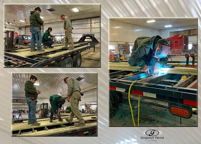 New flooring gooseneck trailer - Gingerich Farms