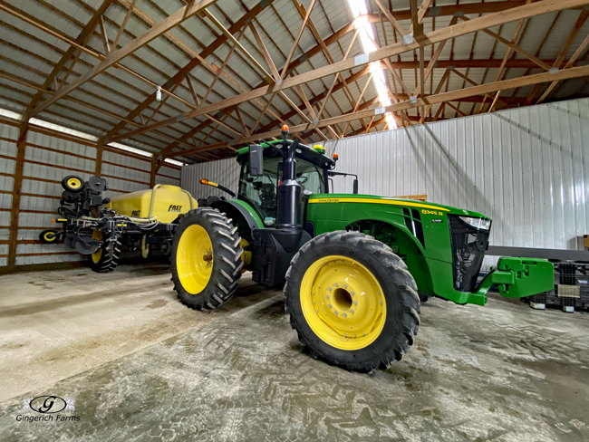 JD sidedress tractor - Gingerich Farms