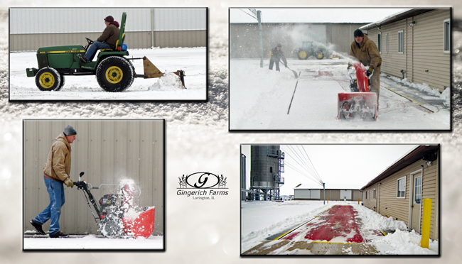 Seth & Doug snow removal at Gingerich Farms