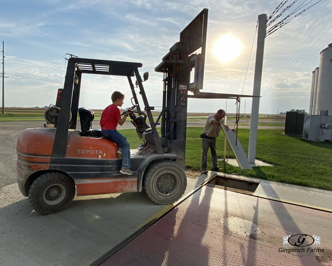Fixing side of scales - Gingerich Farms