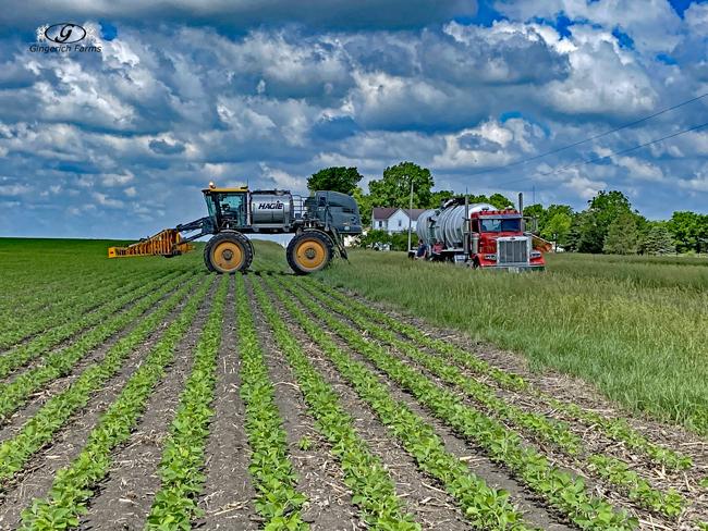 Filling sprayer - Gingerich Farms