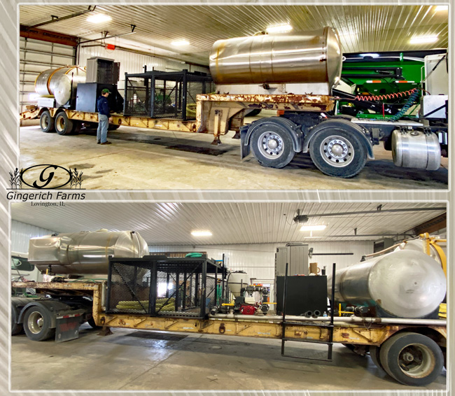 Chemical trailer at Gingerich Farms