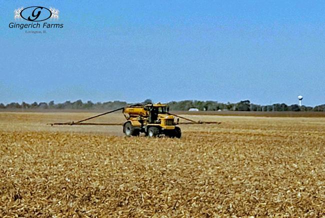Fertilizer spreader - Gingerich Farms