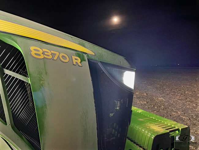 Moon & tractor - Gingerich Farms