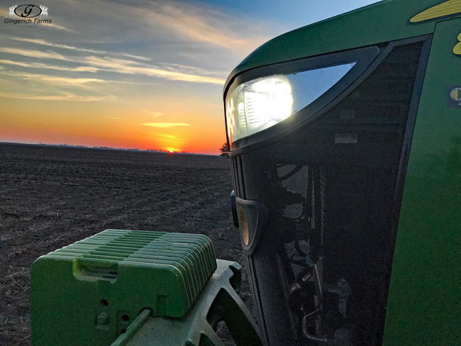 Planting at sunrise - Gingerich Farms
