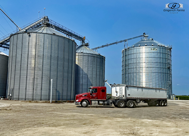 Truck getting load from GC - Gingerich Farms