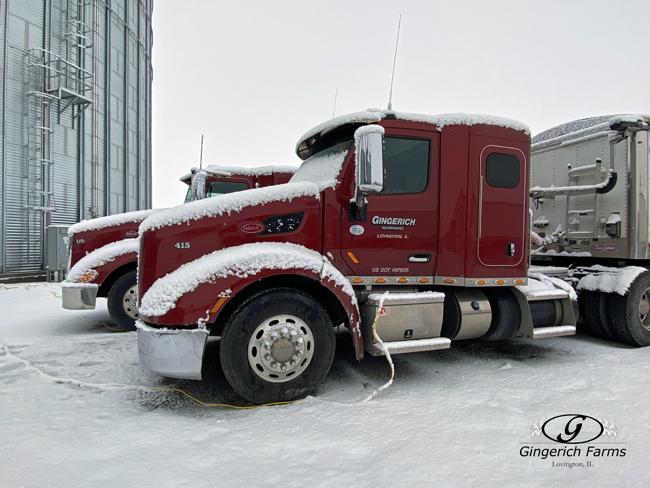 Snowy truck - Gingerich Farms