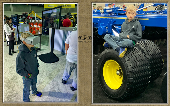 Tyler at farm show - Gingerich Farms