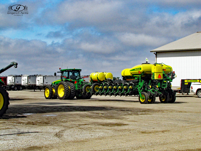 Corn planter done at Gingerich Farms