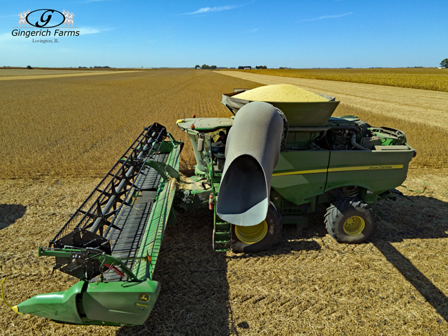 Full combine - Gingerich Farms