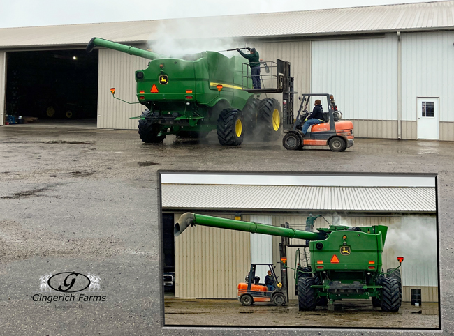 Cleaning Combine - Gingerich Farms