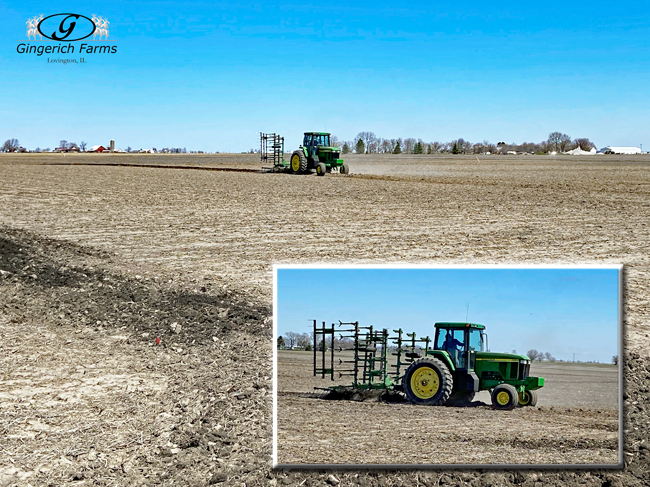 working down tile ground - Gingerich Farms